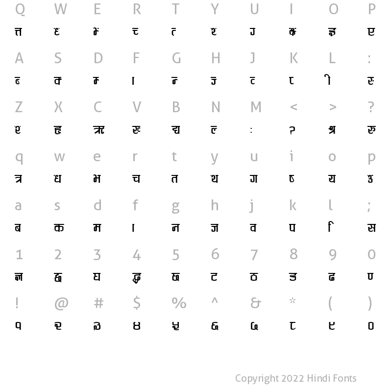 Anjali Regular: Download for free at HindiFonts : Hindi Fonts