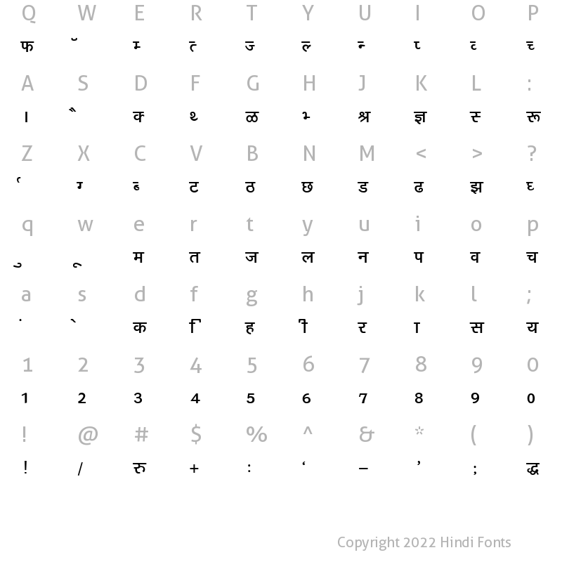 Kruti Dev 160 Regular: Download for free at HindiFonts : Hindi Fonts